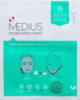 MEDIUS Maska w płacie Double Effect Mask Pore Care