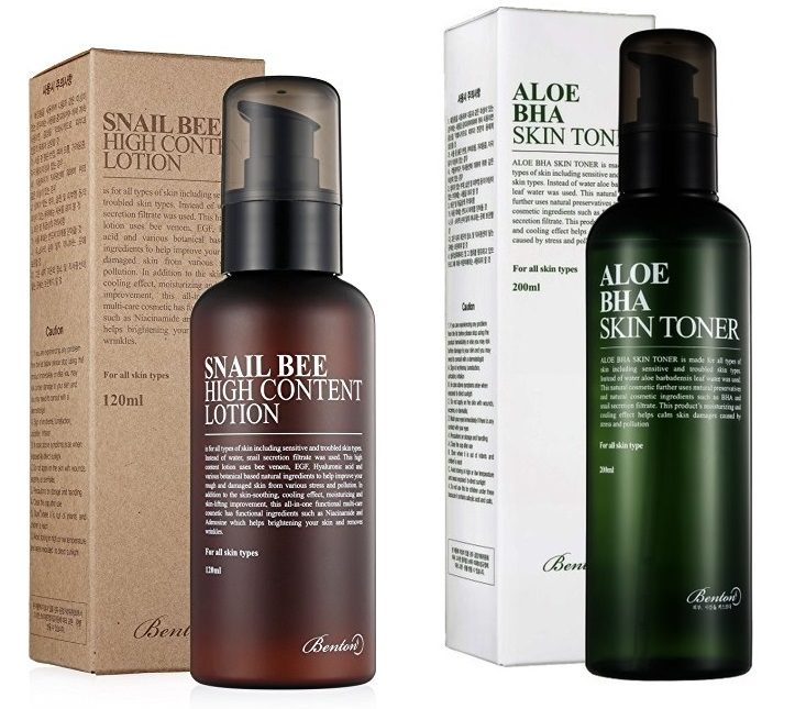 BENTON Zestaw Promocyjny Benton Aloe BHA Skin Toner + Benton Snail Bee High Content Lotion